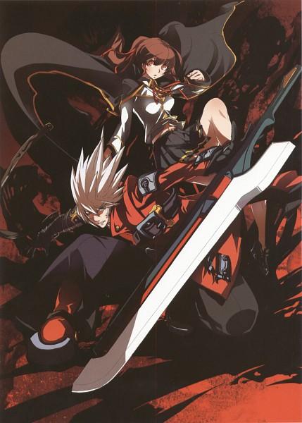 Tags: Anime, BlazBlue, Caelica A. Mercury, Ragna the Bloodedge, Mobile Wallpaper