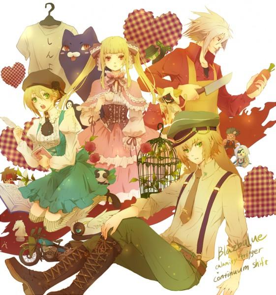 Tags: Anime, Senano Yu, BlazBlue, Iron Tager, Rachel Alucard, Nago, Taokaka, Gii, Ragna the Bloodedge, Sol Badguy, Nu-13, Kisaragi Jin, Hazama