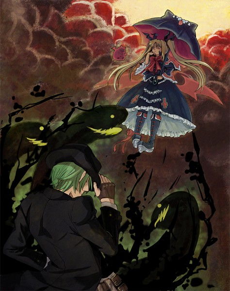 Tags: Anime, Pixiv Id 641941, BlazBlue, Nago, Gii, Hazama, Rachel Alucard, Fanart From Pixiv, Pixiv, Fanart