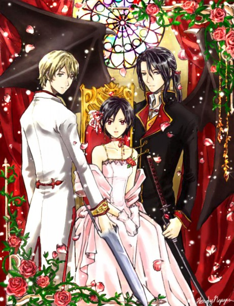 Tags: Anime, Blood+, Solomon Goldsmith, Otonashi Saya, Haji