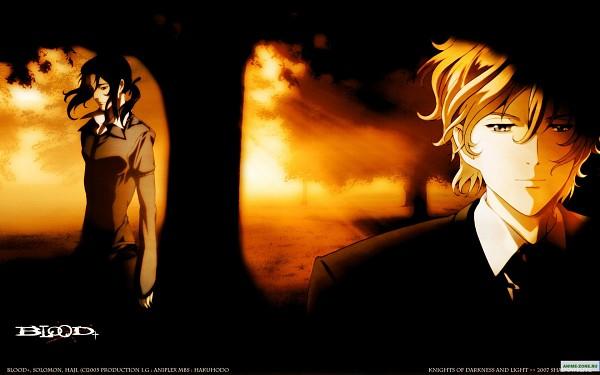 Tags: Anime, Ishii Akiharu, Production I.G., Blood+, Solomon Goldsmith, Haji, Wallpaper, Official Art