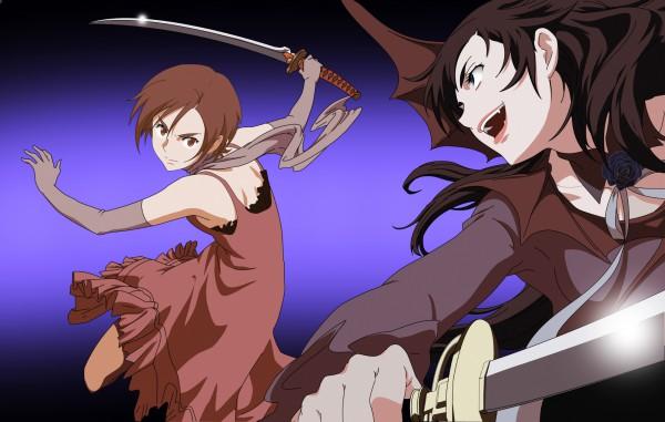 Tags: Anime, Ishii Akiharu, Production I.G., Blood+, Otonashi Saya, Diva, Wallpaper, Official Art