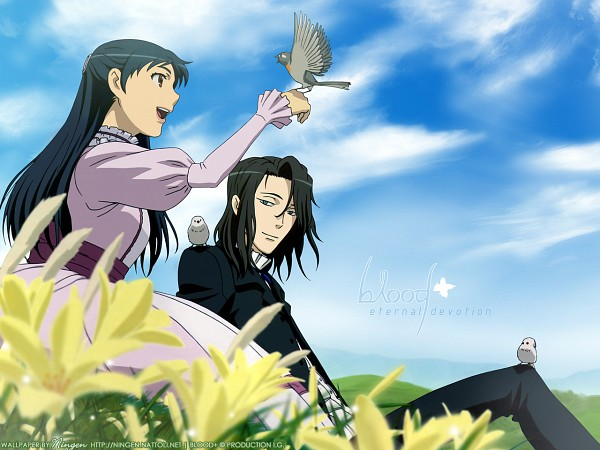 Tags: Anime, Ishii Akiharu, Production I.G., Blood+, Otonashi Saya, Wallpaper, Official Art