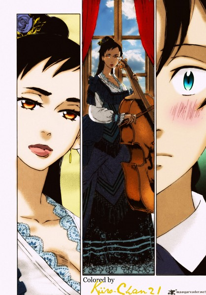 Tags: Anime, Katsura Asuka, Blood+, Otonashi Saya, Haji, Cello, Mobile Wallpaper, Scan, Colorization