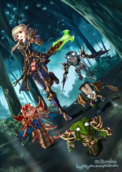 Tags: Anime, Windforcelan, Warcraft, Blood Elf, Mobile Wallpaper