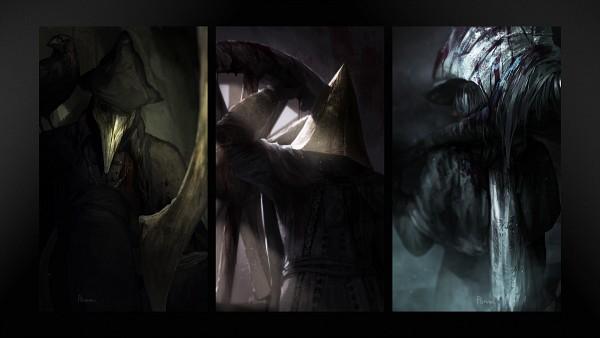 Tags: Anime, Pixiv Id 12144909, Bloodborne, Father Gascoigne, Alfred (Bloodborne), Eileen the Crow, Fanart From Pixiv, Pixiv, Fanart