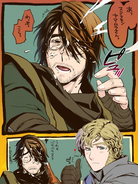 Tags: Anime, Pixiv Id 5090912, Bloodborne: The Old Hunters, Bloodborne, Yamamura the Wanderer, Alfred (Bloodborne), Pixiv, Fanart, Fanart From Pixiv