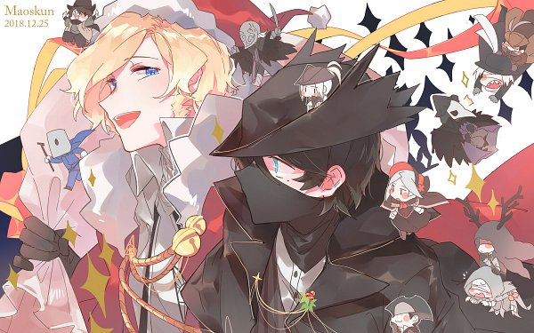 Tags: Anime, Pixiv Id 4021293, Bloodborne: The Old Hunters, Bloodborne, Plain Doll, Micolash Host of the Nightmare, Henryk (Bloodborne), Lady Maria of the Astral Clocktower, Bloody Crow of Cainhurst, Eileen the Crow, Father Gascoigne, The Hunter (Bloodborne), Alfred (Bloodborne)