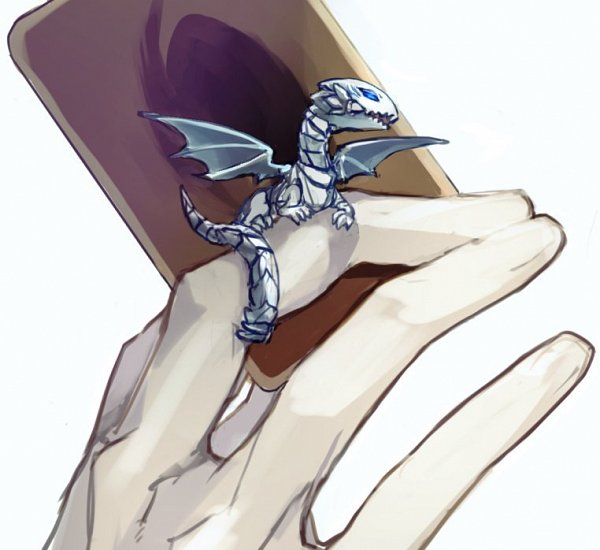 Tags: Anime, Pixiv Id 949670, Yu-Gi-Oh!, Yu-Gi-Oh! Duel Monsters, Blue-Eyes White Dragon, Mini Dragon, Twitter, Fanart