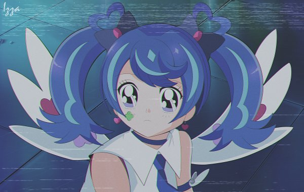Tags: Anime, Pixiv Id 53117727, Yu-Gi-Oh! VRAINS, Yu-Gi-Oh!, Blue Angel, Zaizen Aoi, Bishoujo Senshi Sailor Moon (Parody), Fanart, Fanart From Pixiv, Sailor Moon Redraw, Pixiv