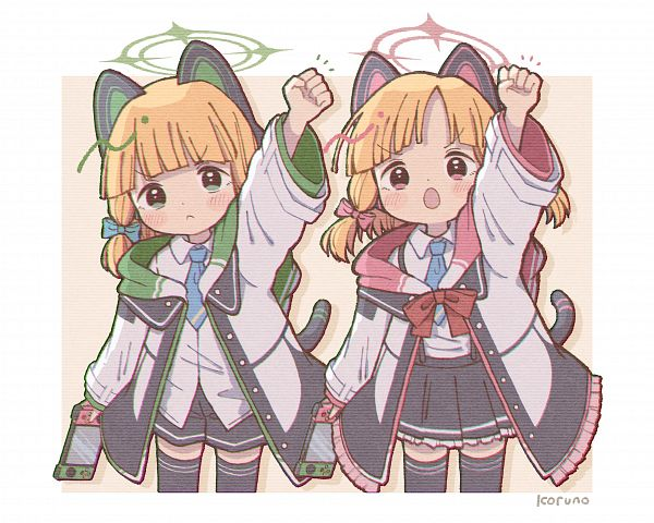 Tags: Anime, Pixiv Id 22736542, Blue Archive, Saiba Momoi, Saiba Midori, Fanart From Pixiv, Pixiv, Fanart