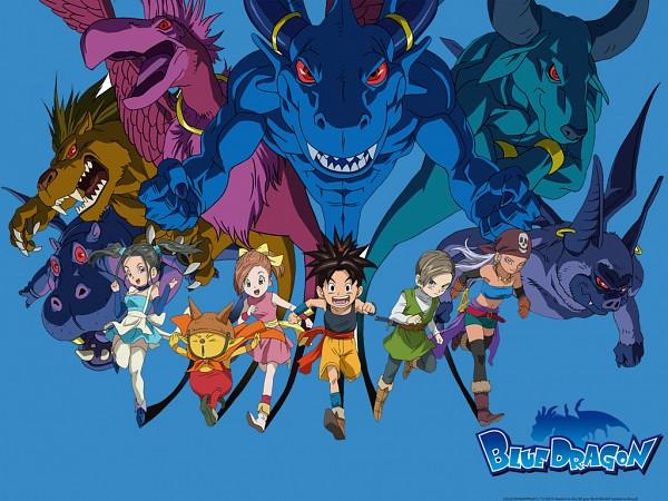 Tags: Anime, Toriyama Akira, Blue Dragon - Tenkai No Shichi Ryu, Bouquet (Blue Dragon), Zola, Jiro (Blue Dragon), Kluke, Shu (Blue Dragon), Wallpaper
