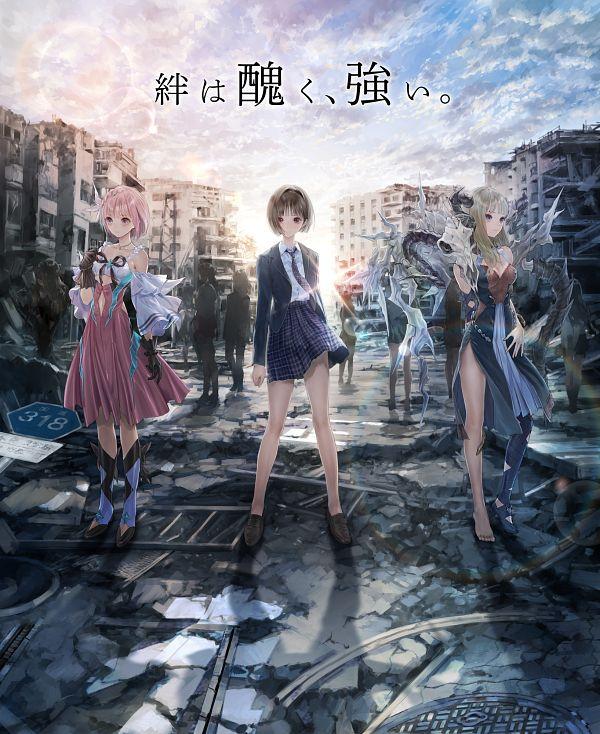 Tags: Anime, Kishida Mel, Gust, Blue Reflection Ray, Blue Reflection Tie, Blue Reflection Sun, Hirahara Hiori, Hoshizaki Ao, Sunrise, Official Art, Key Visual, Twitter