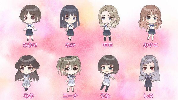 Tags: Anime, J.C.STAFF, Blue Reflection Ray, Shirakaba Miyako, Mizusaki Shino, Tanabe Momo, Komagawa Uta, Hirahara Hiori, Yamada Nina (Blue Reflection Ray), Hanari Ruka, Hirahara Mio, Official Art