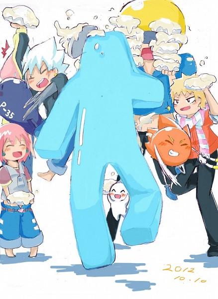 Tags: Anime, Pixiv Id 3124221, Bobobo-bo Bo-bobo, Don Patch, Beauty (Bobobo-bo Bo-bobo), Hatenkou (Bobobo-bo Bo-bobo), Dengakuman, Bobobo (Character), Tokoro Tennosuke, Heppokkomaru, Afro