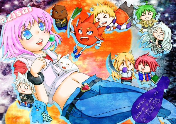 Tags: Anime, Pixiv Id 1581215, Bobobo-bo Bo-bobo, Tokoro Tennosuke, Don Patch, Harekurani, Heppokkomaru, Over (Bobobo-bo Bo-bobo), Beauty (Bobobo-bo Bo-bobo), Dengakuman, Hatenkou (Bobobo-bo Bo-bobo), Softon