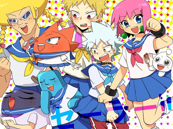 Tags: Anime, Pixiv Id 979850, Bobobo-bo Bo-bobo, Heppokkomaru, Don Patch, Beauty (Bobobo-bo Bo-bobo), Torpedo Girl, Hatenkou (Bobobo-bo Bo-bobo), Dengakuman, Bobobo (Character), Tokoro Tennosuke, Afro