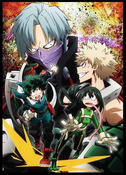 Tags: Anime, BONES (Studio), Boku no Hero Academia, Boku no Hero Academia: Training of the Dead, Fujimi Romero, Asui Tsuyu, Bakugou Katsuki, Midoriya Izuku, Cover Image, Official Art, Key Visual