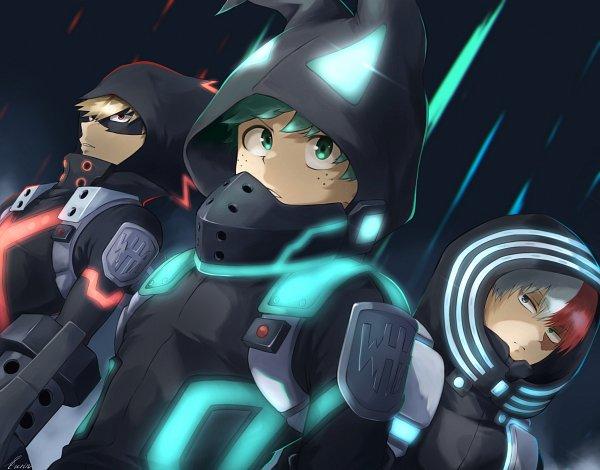 Tags: Anime, Pixiv Id 14913382, Boku no Hero Academia, Boku no Hero Academia: World Heroes' Mission, Todoroki Shouto, Bakugou Katsuki, Midoriya Izuku, Fanart From Pixiv, Pixiv, Fanart