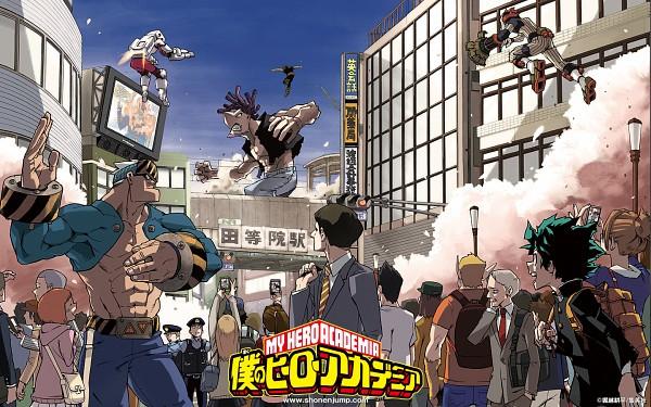 Tags: Anime, Horikoshi Kouhei, Boku no Hero Academia, Shinrin Kamui, Todoroki Enji, Midoriya Izuku, Desutegoro, Manga Color, Magazine (Source), Official Art, Manga Cover, Scan, WEEKLY JUMP (Source), My Hero Academia