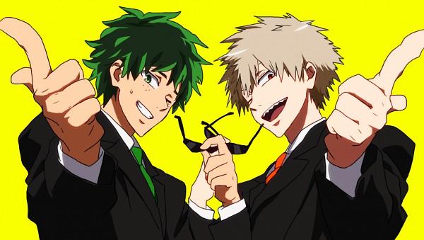 Tags: Anime, Pixiv Id 3072184, Boku no Hero Academia, Bakugou Katsuki, Midoriya Izuku, Free! (Parody), Fanart From Pixiv, Pixiv, Fanart, Facebook Cover, My Hero Academia