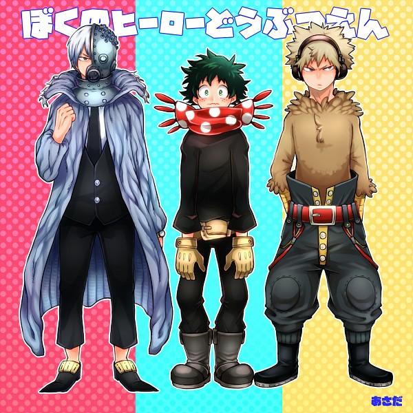 Tags: Anime, Pixiv Id 3943536, Boku no Hero Academia, Midoriya Izuku, Todoroki Shouto, Bakugou Katsuki, Shiina (Oumagadoki) (Cosplay), Oumagadoki Doubutsuen (Parody), Takahiro (Oumagadoki) (Cosplay), Isana (Cosplay), Fanart, Fanart From Pixiv, Pixiv, My Hero Academia