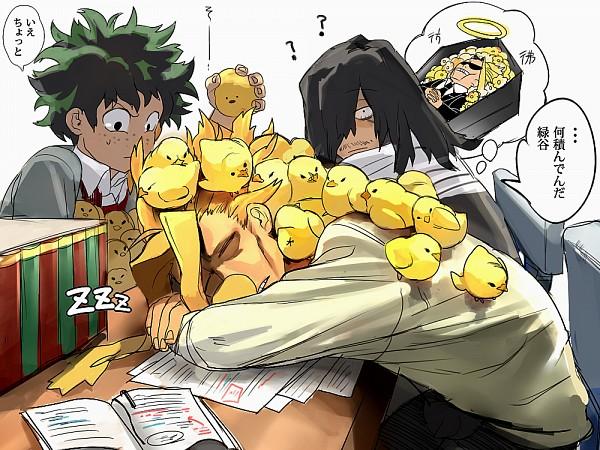 Tags: Anime, Pixiv Id 16180872, Boku no Hero Academia, Aizawa Shouta, Midoriya Izuku, All Might, PNG Conversion, Pixiv, Fanart, Fanart From Pixiv, Translation Request, My Hero Academia