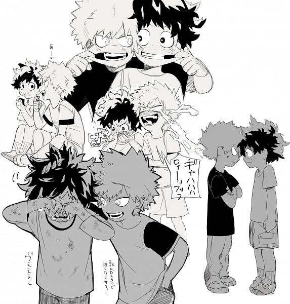 Tags: Anime, Pixiv Id 16180872, Boku no Hero Academia, Bakugou Katsuki, Midoriya Izuku, Onigiri, Fanart, Fanart From Pixiv, PNG Conversion, Pixiv, KatsuDeku, My Hero Academia