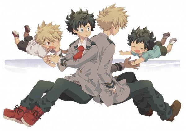 Tags: Anime, 0328uppi, Boku no Hero Academia, Bakugou Katsuki, Midoriya Izuku, Pixiv, Fanart, Fanart From Pixiv, KatsuDeku, My Hero Academia