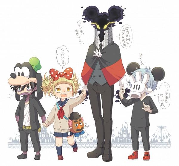 Tags: Anime, 0328uppi, Boku no Hero Academia, Dabi, Mr. Potato Head, Kurogiri, Shigaraki Tomura, Toga Himiko, Disney (Parody), Fanart From Pixiv, Fanart, My Hero Academia
