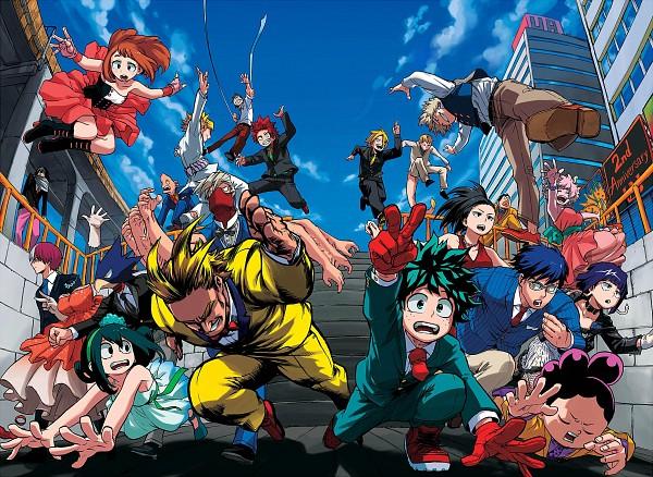 Tags: Anime, Horikoshi Kouhei, Boku no Hero Academia, Ashido Mina, Shouji Mezou, Kouda Kouji, Asui Tsuyu, Kaminari Denki, All Might, Hagakure Tooru, Mineta Minoru, Bakugou Katsuki, Jirou Kyouka, My Hero Academia