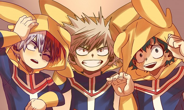 Tags: Anime, Ariadusts, Boku no Hero Academia, Todoroki Shouto, Bakugou Katsuki, Midoriya Izuku, Self Made, Wallpaper, My Hero Academia