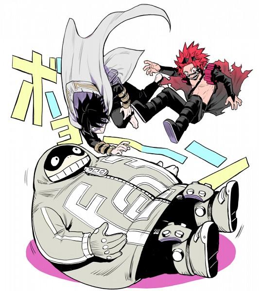 Tags: Anime, Ritsuko (Rittii), Boku no Hero Academia, Kirishima Eijirou, Toyomitsu Taishiro, Amajiki Tamaki, PNG Conversion, Pixiv, Fanart, Fanart From Pixiv, My Hero Academia