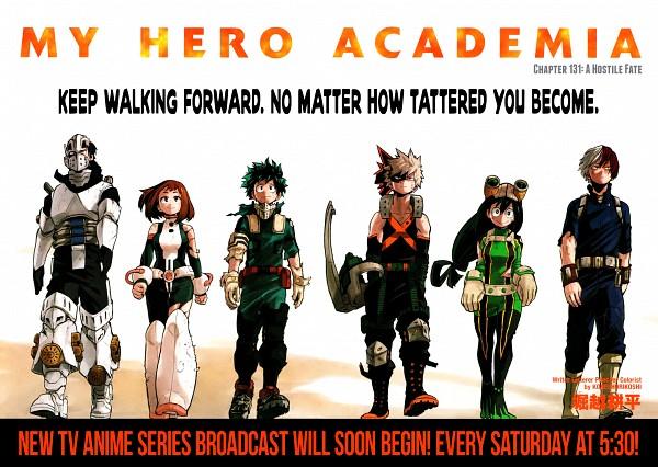 Tags: Anime, Horikoshi Kouhei, Boku no Hero Academia, Uraraka Ochako, Todoroki Shouto, Asui Tsuyu, Bakugou Katsuki, Iida Tenya, Midoriya Izuku, Official Art, My Hero Academia