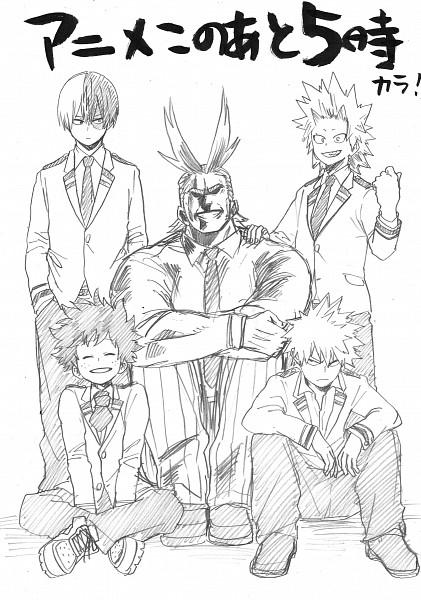 Tags: Anime, Horikoshi Kouhei, Boku no Hero Academia, Midoriya Izuku, All Might, Kirishima Eijirou, Todoroki Shouto, Bakugou Katsuki, Official Art, My Hero Academia