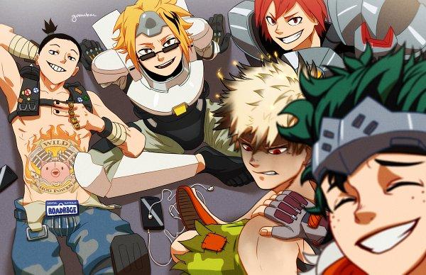 Tags: Anime, Goombac, Boku no Hero Academia, Midoriya Izuku, Kirishima Eijirou, Sero Hanta, Bakugou Katsuki, Winston (Overwatch) (Cosplay), Kaminari Denki (Cosplay), Roadhog (Overwatch) (Cosplay), Genji (Overwatch) (Cosplay), Reinhardt (Overwatch) (Cosplay), Earbuds, My Hero Academia