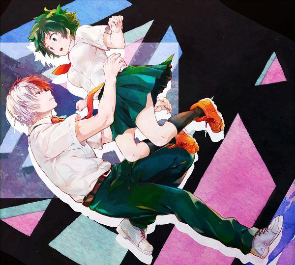 Tags: Anime, Pixiv Id 6765579, Boku no Hero Academia, Todoroki Shouto, Midoriya Izuku, TodoDeku, My Hero Academia