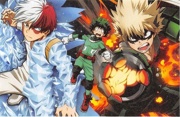 Tags: Anime, BONES (Studio), Boku no Hero Academia, Midoriya Izuku, Todoroki Shouto, Bakugou Katsuki, Official Art, My Hero Academia