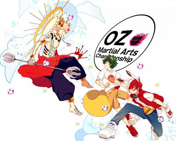 Tags: Anime, Dandel, Boku no Hero Academia, Summer Wars, Todoroki Shouto, Bakugou Katsuki, Midoriya Izuku, Love Machine (cosplay), King Kazma (Cosplay), My Hero Academia