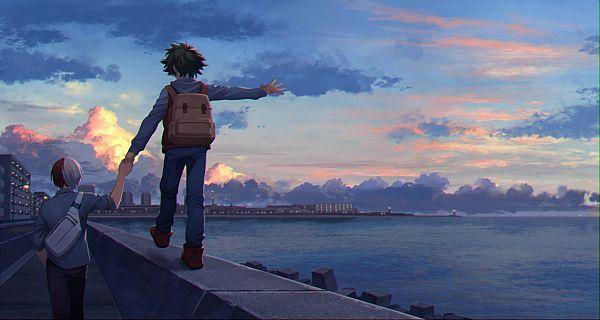 Tags: Anime, Pixiv Id 9584520, Boku no Hero Academia, Todoroki Shouto, Midoriya Izuku, TodoDeku, My Hero Academia