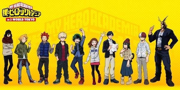 Tags: Anime, BONES (Studio), Boku no Hero Academia, Todoroki Shouto, All Might, Aizawa Shouta, Kirishima Eijirou, Asui Tsuyu, Kaminari Denki, Bakugou Katsuki, Uraraka Ochako, Midoriya Izuku, Official Art, My Hero Academia