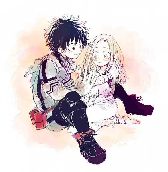 Tags: Anime, Bata (Artist), Boku no Hero Academia, Eri (Boku no Hero Academia), Midoriya Izuku, Twitter, Fanart, My Hero Academia