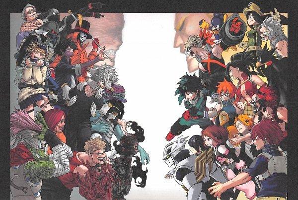 Tags: Anime, Horikoshi Kouhei, Boku no Hero Academia, Kaminari Denki, Tetsutetsu Tetsutetsu, Bubaigawara Jin, Bakugou Katsuki, Iida Tenya, Hikiishi Kenji, Jirou Kyouka, Shigaraki Tomura, Sako Atsuhiro, Midoriya Izuku, My Hero Academia
