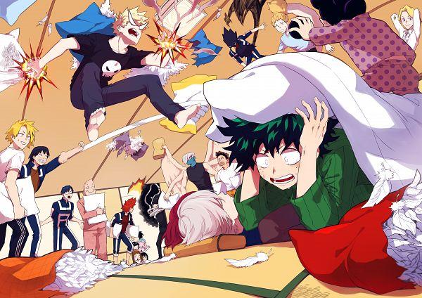 Tags: Anime, Pixiv Id 4061422, Boku no Hero Academia, Yaoyorozu Momo, Aizawa Shouta, Kirishima Eijirou, Ojiro Mashirao, Iida Tenya, Asui Tsuyu, Sero Hanta, Shouji Mezou, Kouda Kouji, Bakugou Katsuki, My Hero Academia