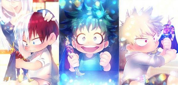 Tags: Anime, Pixiv Id 9477, Boku no Hero Academia, Todoroki Rei, All Might, Todoroki Shouto, Bakugou Katsuki, Midoriya Izuku, Fanart From Pixiv, Pixiv, Fanart, My Hero Academia