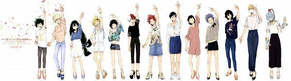 Tags: Anime, Dandel, Boku no Hero Academia, Midoriya Izuku, Iida Tenya, Todoroki Shouto, Kirishima Eijirou, Aizawa Shouta, Hakamata Tsunagu, Sero Hanta, Asui Tsuyu, Shinsou Hitoshi, Kaminari Denki, My Hero Academia