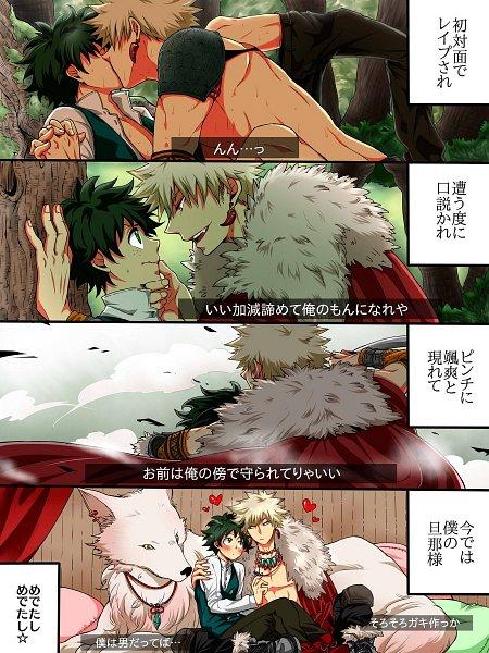 Tags: Anime, Pixiv Id 2145360, Boku no Hero Academia, Bakugou Katsuki, Midoriya Izuku, Wallpaper, KatsuDeku, My Hero Academia