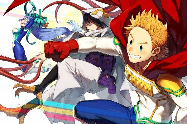 Tags: Anime, Pixiv Id 214744, Boku no Hero Academia, Togata Mirio, Amajiki Tamaki, Hadou Nejire, Fanart From Pixiv, Pixiv, Fanart, My Hero Academia