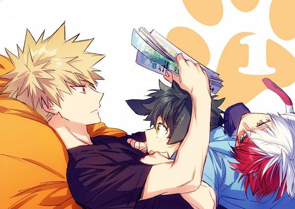 Tags: Anime, hegi, Boku no Hero Academia, Todoroki Shouto, Bakugou Katsuki, Midoriya Izuku, Twitter, My Hero Academia