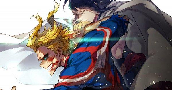 Tags: Anime, Pixiv Id 214744, Boku no Hero Academia, All Might, Shimura Nana, Charging, Pixiv, My Hero Academia